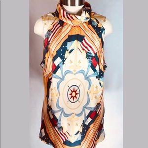 Tommy Hilfiger Nautical Sz XL Sleeveless blouse